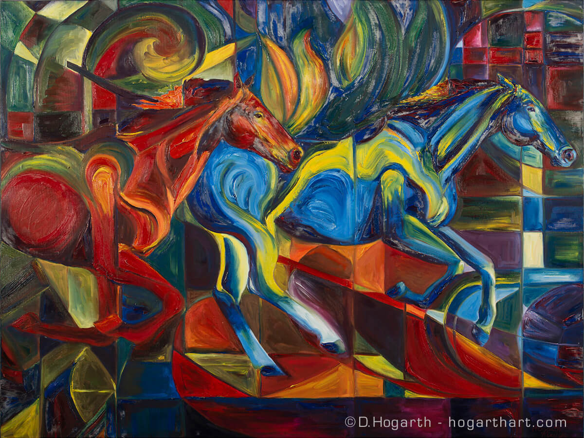 Colorful Wild Horses