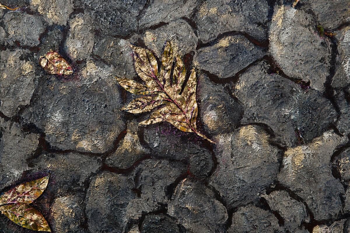 Gold-Leaf, close up