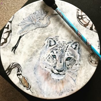 Snow Leopard Drum