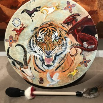 Tiger and Dragon Drum